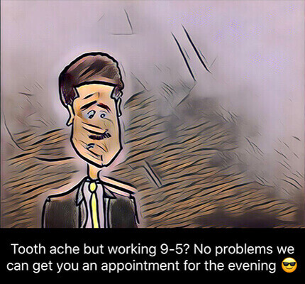 toothache dental treatment appointment
