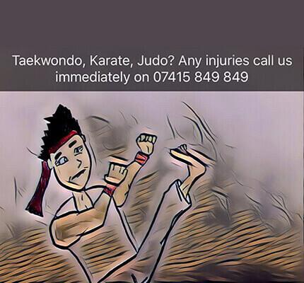 taekwondo karate judo dental injury treatment