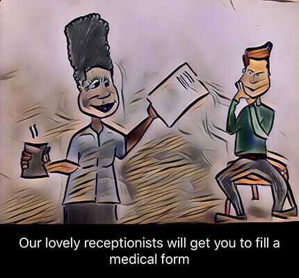 dentist form submission animation