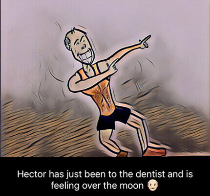 satisfactory dental patient after treatment