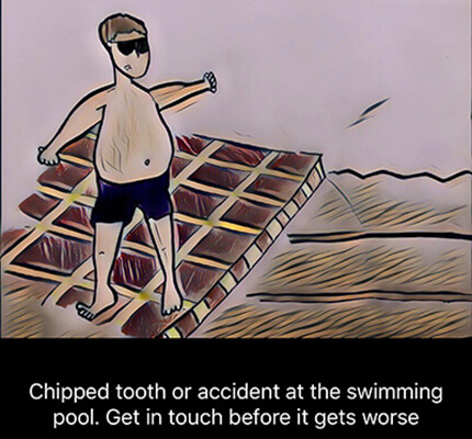 chipped tooth repair swimming accident