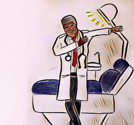 dentist dance dab